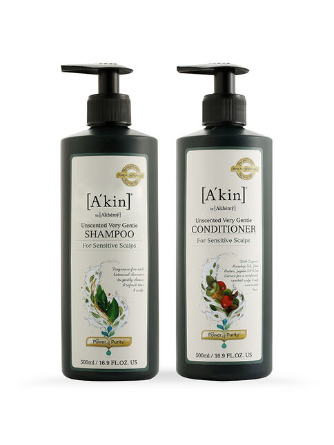 Duo 500ML Unscented Very Gentle Shampoo & Unscented Very Gentle Conditioner