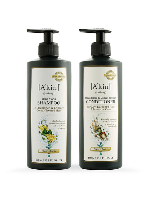 Duo 500ML Ylang Ylang Shampoo & Macadamia & Wheat Protein Conditioner