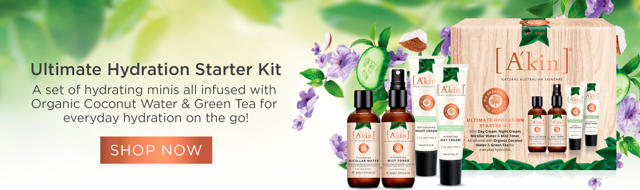 Ultimate Hydration Starter Kit - A set of hydrating minis all infused with Organic Coconut Water & Green Tea for everyday hydration on the go!