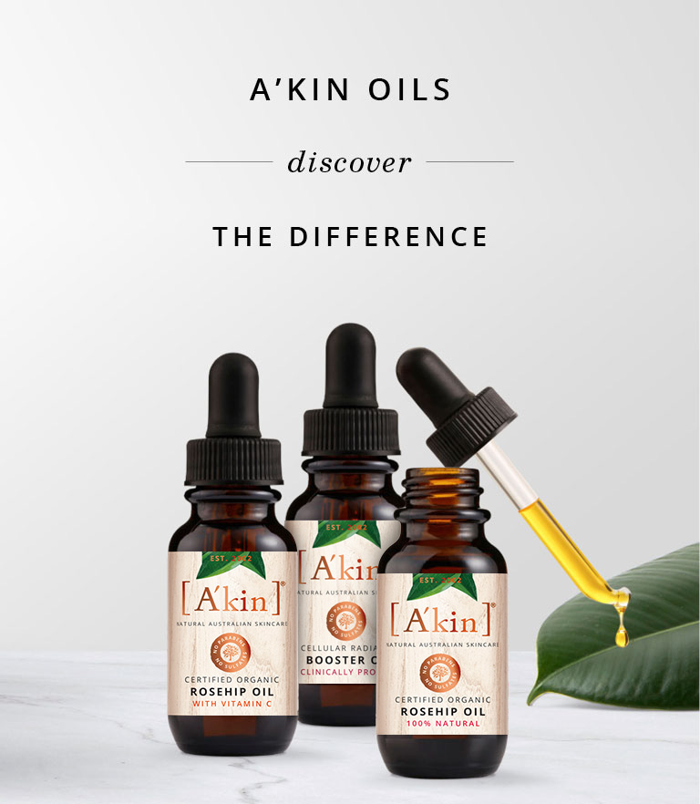 Discover the difference with A'kin Facial Oils