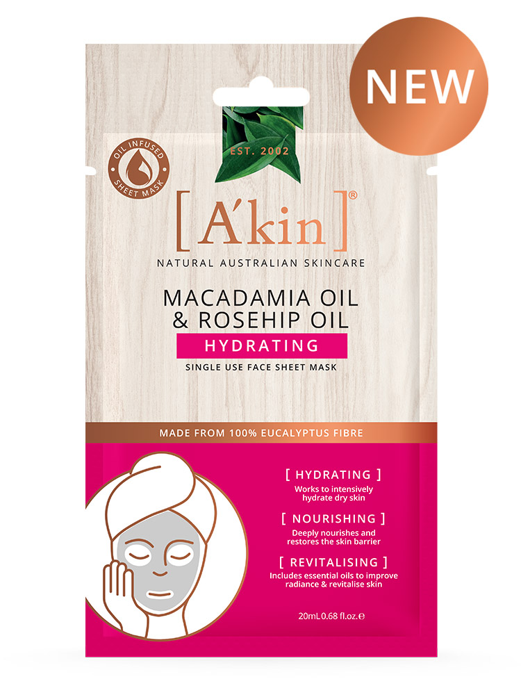 Macadamia Oil & Rosehip Oil Hydrating Face Sheet Mask